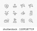 shave line icon set isolated on ... | Shutterstock .eps vector #1109187719