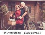 nice caucasian people enjoy... | Shutterstock . vector #1109189687