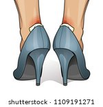 blister and wound on woman heel | Shutterstock .eps vector #1109191271