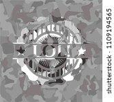 lol  written on a grey... | Shutterstock .eps vector #1109194565