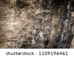 cows on stone  petroglyph art.... | Shutterstock . vector #1109196461