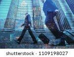 multiple exposure of city...   Shutterstock . vector #1109198027
