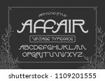 vector elegant font set named ... | Shutterstock .eps vector #1109201555