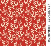 semless pattern with decorative ...   Shutterstock .eps vector #1109207837