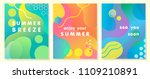unique artistic summer cards... | Shutterstock .eps vector #1109210891