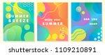 unique artistic summer cards... | Shutterstock .eps vector #1109210891
