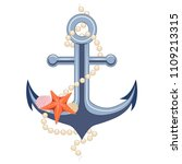anchor with pearls and a... | Shutterstock .eps vector #1109213315