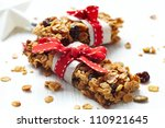 homemade granola bars | Shutterstock . vector #110921645
