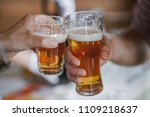 two friends toasting with... | Shutterstock . vector #1109218637
