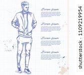 vector man model dressed in...   Shutterstock .eps vector #1109219954