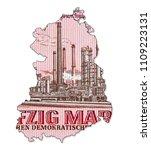 historic 50 east german mark... | Shutterstock . vector #1109223131