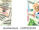 some us dollar and euro... | Shutterstock . vector #1109223134