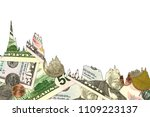 some us dollar banknotes and... | Shutterstock . vector #1109223137