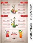 vector color menu design | Shutterstock .eps vector #1109226824
