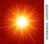 star burst red and yellow fire. ... | Shutterstock .eps vector #110922929