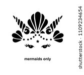 cute template with mermaid logo.... | Shutterstock .eps vector #1109234654