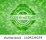 gold membership green emblem.... | Shutterstock .eps vector #1109239259