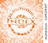 index orange mosaic emblem with ... | Shutterstock .eps vector #1109239397