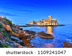 the castle in the isola di capo ... | Shutterstock . vector #1109241047
