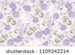cute floral pattern in the... | Shutterstock .eps vector #1109242214
