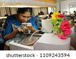 gemstone cutting shop in...   Shutterstock . vector #1109243594