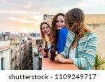 beautiful women enjoying a beer ...   Shutterstock . vector #1109249717