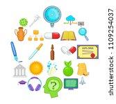 cognition icons set. cartoon... | Shutterstock .eps vector #1109254037
