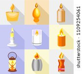candle holder icons set....   Shutterstock .eps vector #1109254061