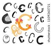 set of letter c in different... | Shutterstock .eps vector #1109263721