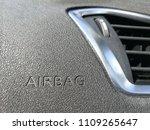 fragments of passenger airbag...   Shutterstock . vector #1109265647