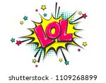 lol funny  wow comic text... | Shutterstock .eps vector #1109268899