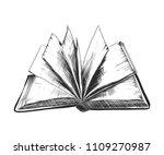 engraved style illustration for ... | Shutterstock . vector #1109270987