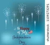 salute  fireworks greeting card.... | Shutterstock .eps vector #1109273291