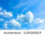 sky blue or azure sky summer... | Shutterstock . vector #1109285819
