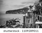 sorrento coast on a cloudy day. ... | Shutterstock . vector #1109289011
