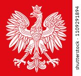 poland eagle in white and red... | Shutterstock .eps vector #1109291894