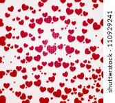 valentine seamless hearts...   Shutterstock .eps vector #110929241