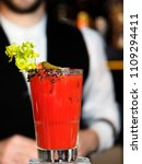 cocktail bloody mary  | Shutterstock . vector #1109294411