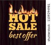 hot sale badge design template... | Shutterstock .eps vector #1109294981