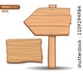 wooden signboards  vector wood... | Shutterstock .eps vector #1109294984