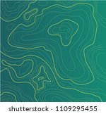 topographic map  vector... | Shutterstock .eps vector #1109295455