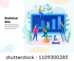 vector flat illustration for...   Shutterstock .eps vector #1109300285