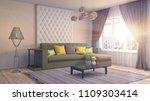 interior living room. 3d... | Shutterstock . vector #1109303414