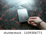 photo big dark tarot cards.... | Shutterstock . vector #1109306771