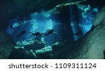 diving in cenotes | Shutterstock . vector #1109311124