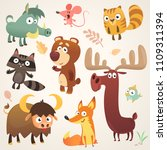 cartoon forest animal... | Shutterstock .eps vector #1109311394