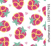 seamless pattern with cute... | Shutterstock .eps vector #1109317931