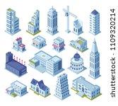 skyscraper building and... | Shutterstock .eps vector #1109320214