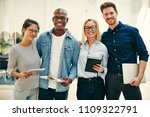group of diverse young... | Shutterstock . vector #1109322791