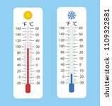 celsius and fahrenheit... | Shutterstock .eps vector #1109322881